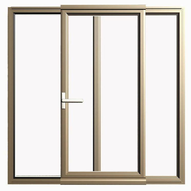 Wholesale Price Aluminum Double Glazing Glass Sliding door