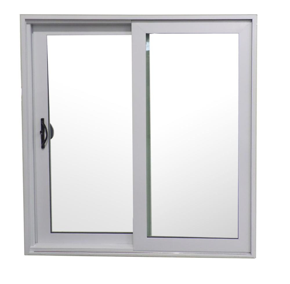 Double glass custom sized aluminum flat window