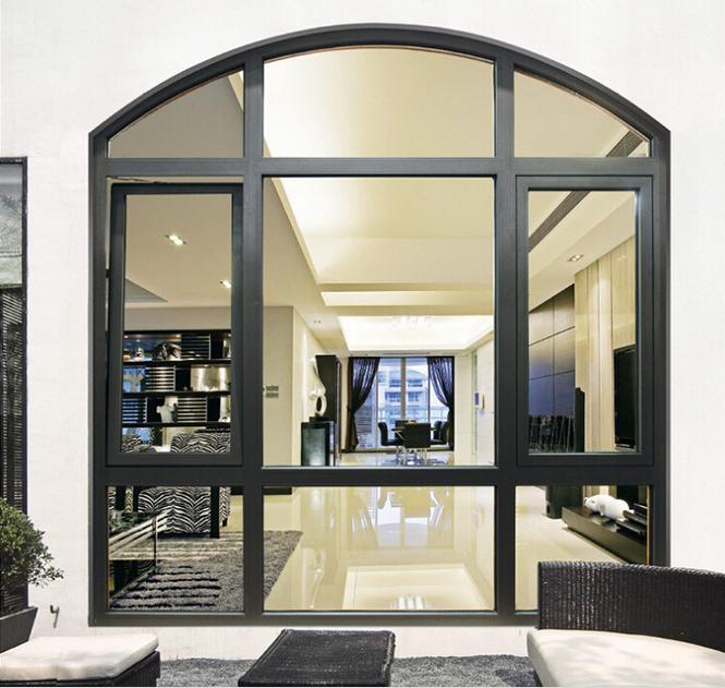Wood printed aluminium hinged swing casement door