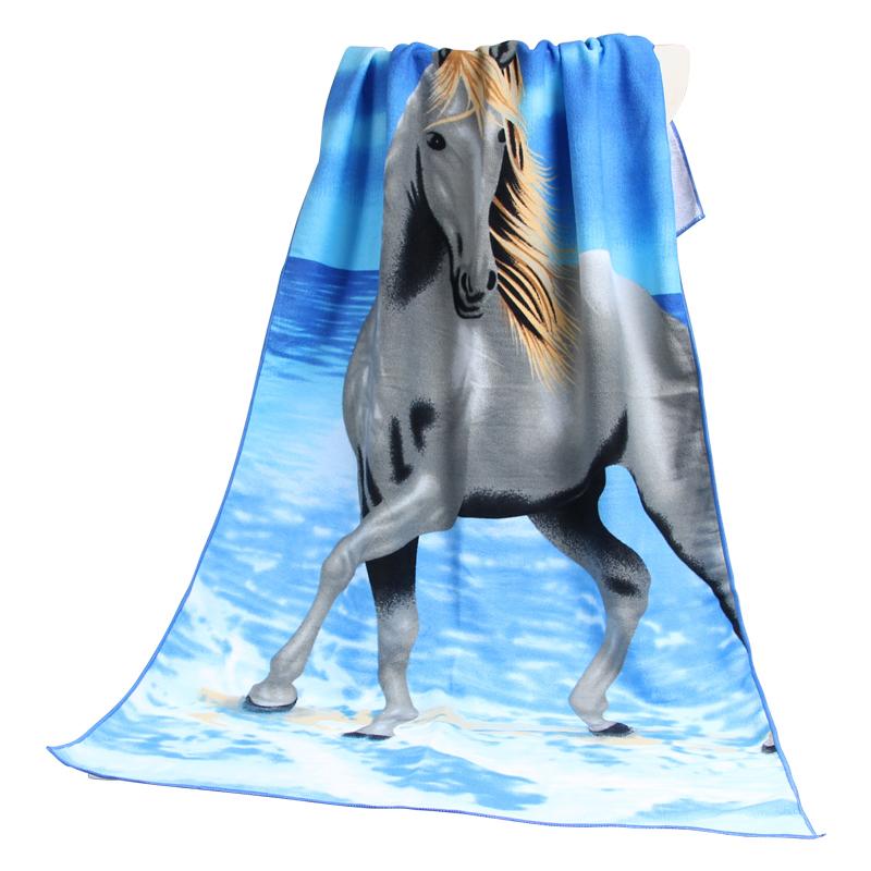 Hot selling custom microfiber super absorbent card printed bath towel