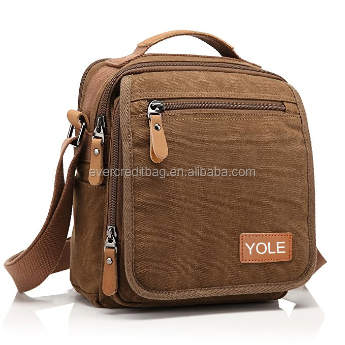 Small Vintage Canvas Shoulder Bag Messenger Bag Work Bag