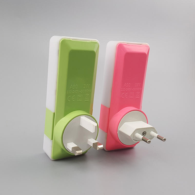 OEM LED Night Light dual USB Wall Plate for Fast Charger 5V 2A Touch Sensor Switch Function