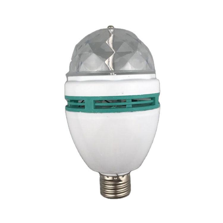 LedBall light Magical Music Smart Bulb2.8W B22 full color rotating lamp on stage