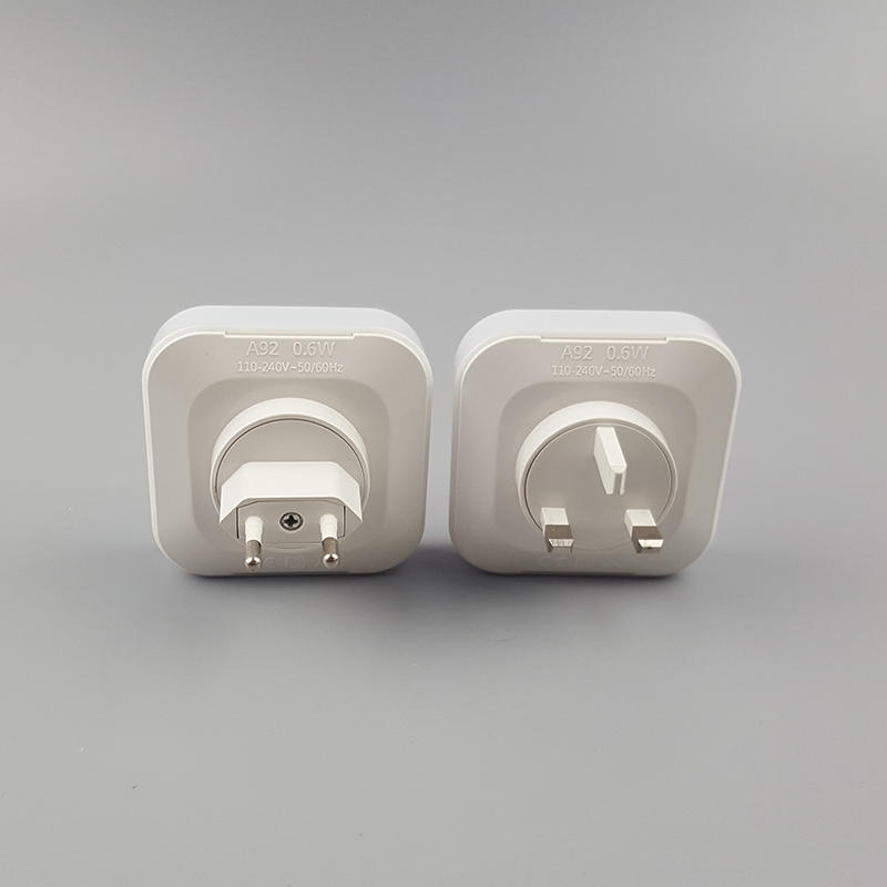 5V 2A Output Travel square Dimmer inductio LED Night Light dual USB Wall Plate for Fast Charger