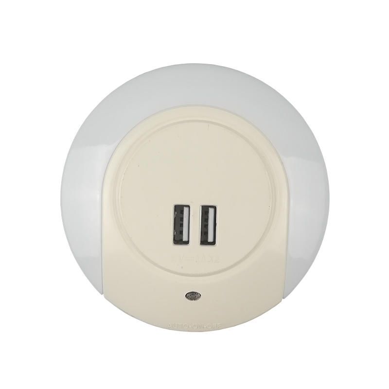 USB recharge ABS cover Wall in , EU UK US plugled night lamp