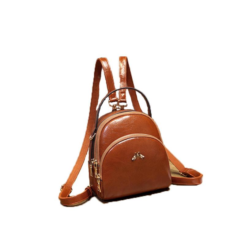 mochilas PU 2020 High Quality Vintage Leather Women Backpack Small Shoulder Bag Backpack Mochila Feminina Bolsa Bolsos Mujer Back Pack