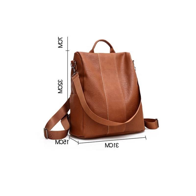 mochilas 2020 Luxury designer fashion PU leather women backpacks 2 ways design shoulder backpack bags for girls college school leisure