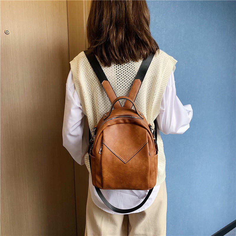 mochilas Fashion Women Leather Backpack Small PU School Bag Backpack for Teenager Girls Rucksack Vintage Shoulder Bags