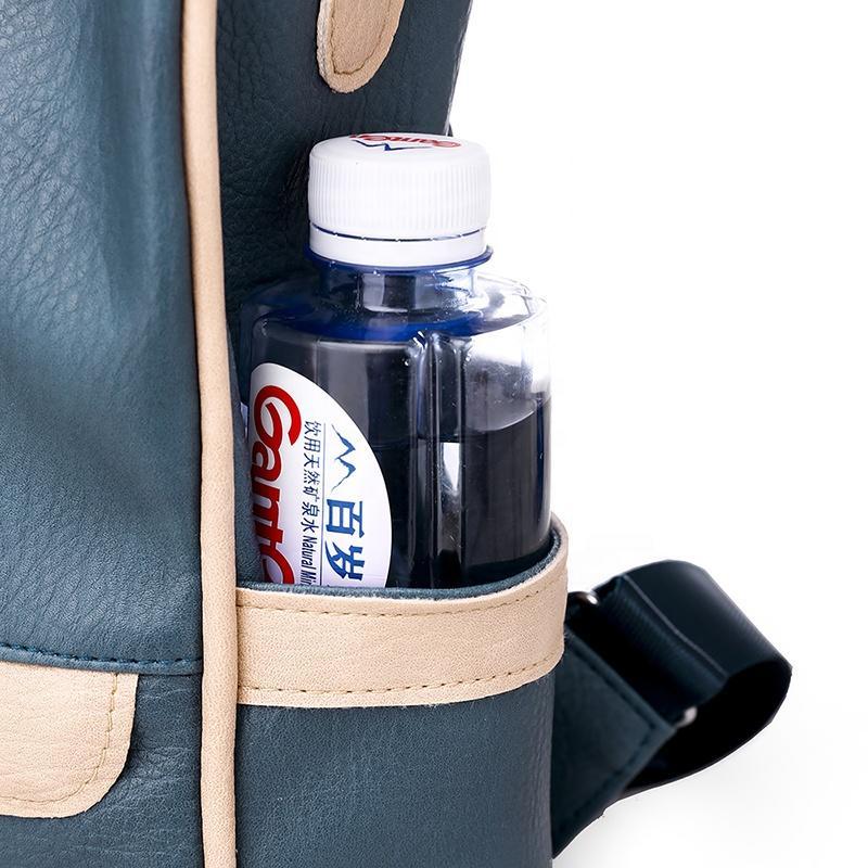 mochilas The large capacity girls PU traveling Stylish waterproof backpacks women flip leather travel back pack vintage school bags