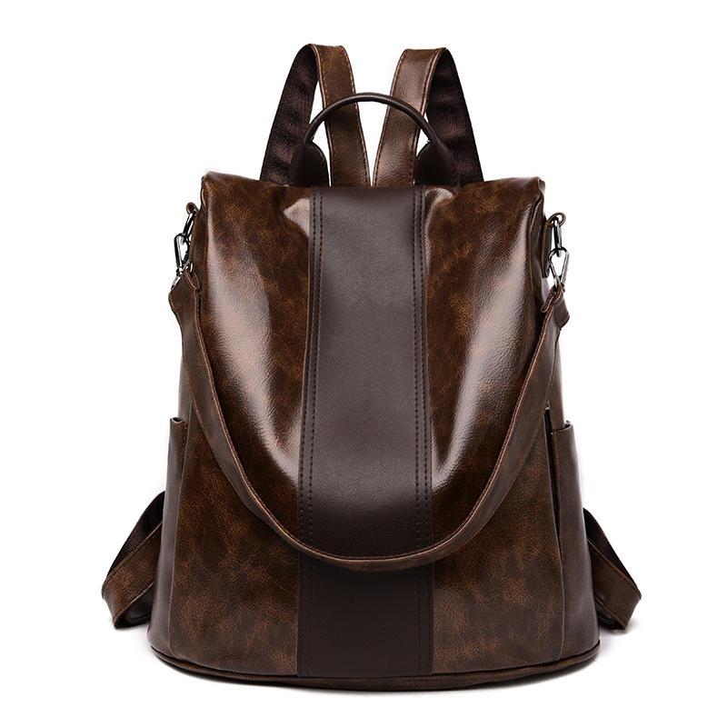 mochilas 2020 New high quality leather backpacks women fashion shoulder bags high capacity travel backpack school bags mochila feminina