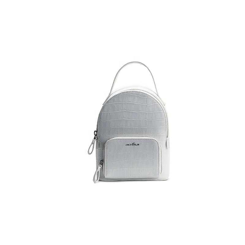 mochilas Newest Fashion Girls White Color PU Leather Backpack