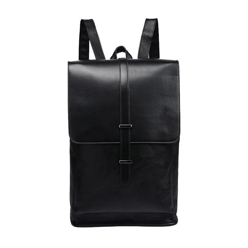 mochilas Brand Men Backpacks Vintage Leather Male Laptop Backpack Business Rucksack Travel School Bag For College Casual Daypack Mochila
