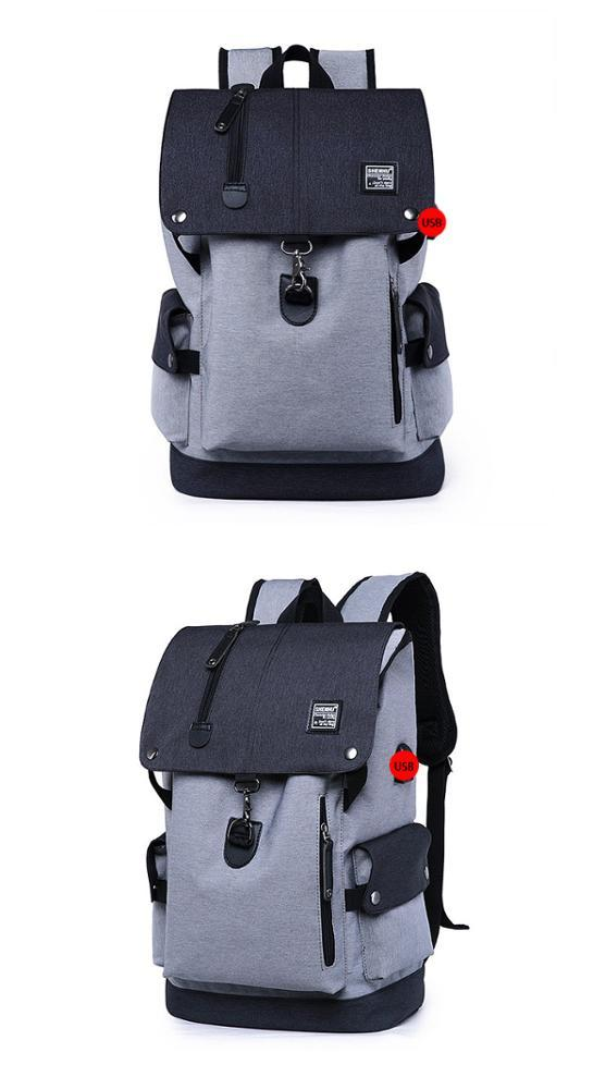 mochilas 2019 New Waterproof Business Smart Laptop backpack for men with USB charging port