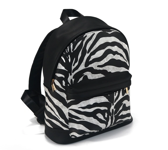 mochilas Girls Bag PU LeatherBackpack Black and White Small Travel Shoulder bags Fashion Lady Backpack