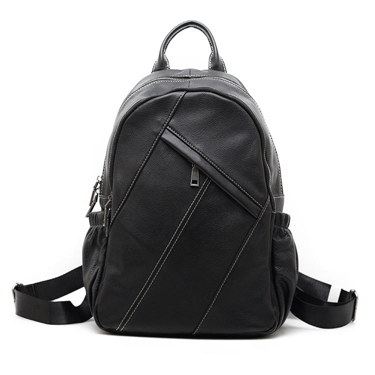 mochilas Men's Vintage Leather Backpack Laptop Bag
