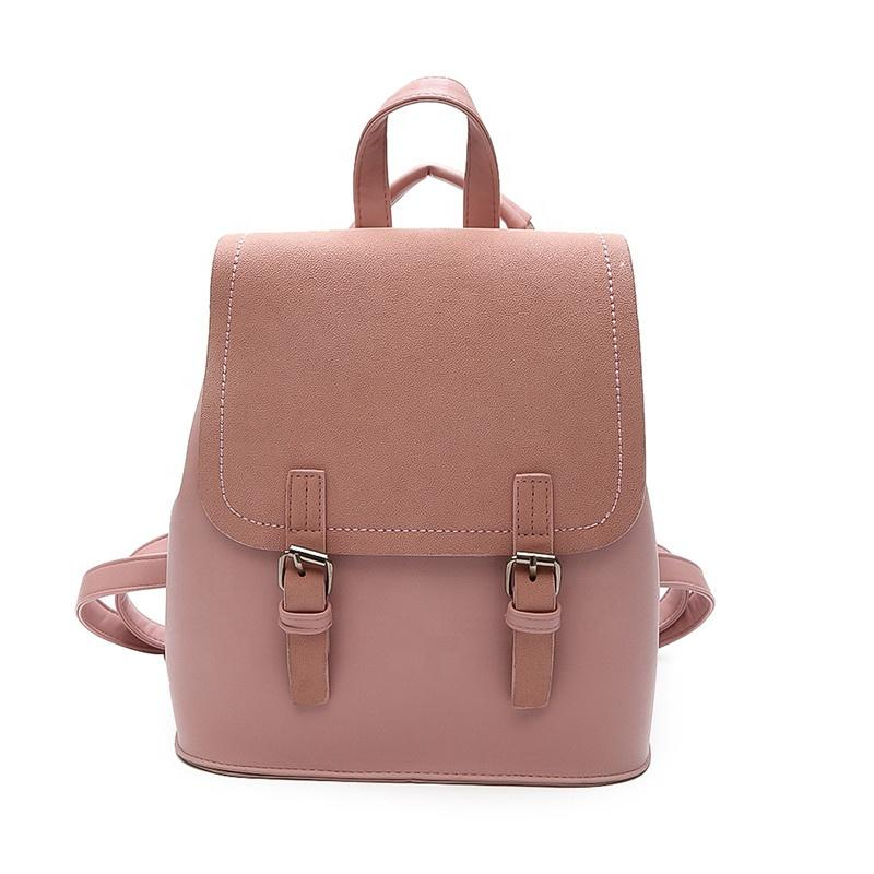 mochilas Wholesale Promotional Prices Lady PU leather backpacks designer brand preppy style school travel backpack for women girls