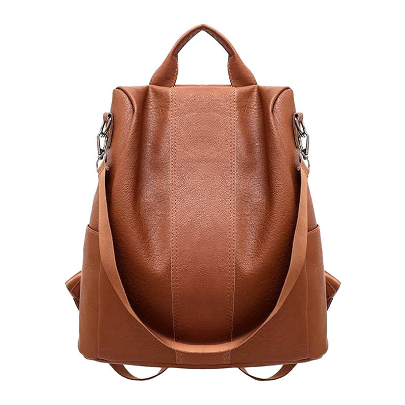 mochilas PU leather Backpack Woman Anti-theft Backpack Bag Casual Wild Soft Leather Dual-use Small Backpack school back bag bolso mochila