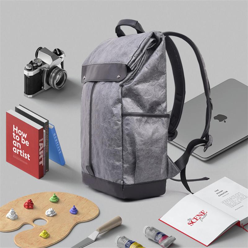 Mens laptop backpack for 14 inch Man backpack Leather School Bag Casual Shoulder backpack Male BagPack Travel Mochila