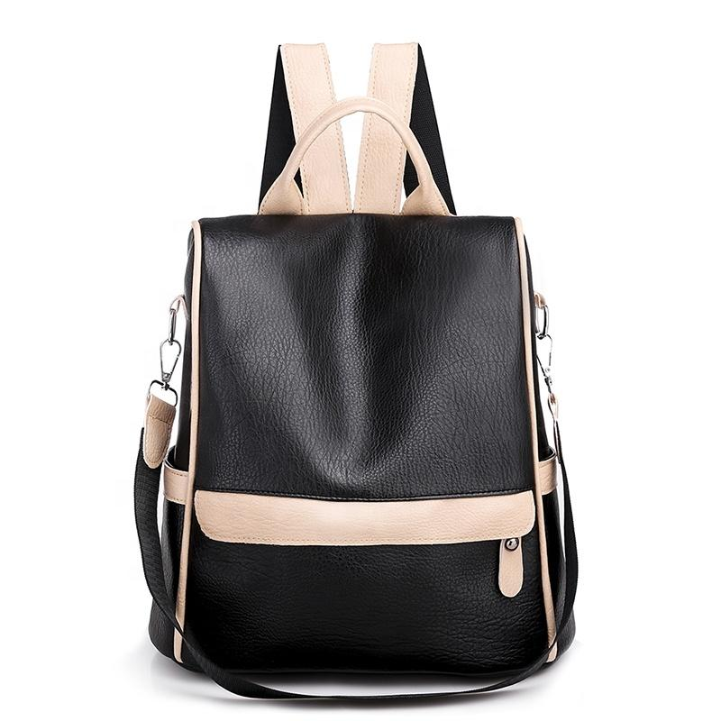 mochilas The large capacity girls PU traveling Stylish waterproof backpacks women flip leather travel back pack vintage school bags