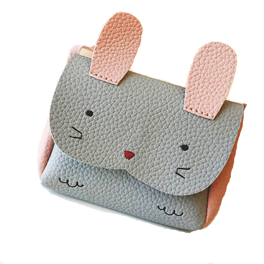 mochilas Plush Backpacks Children Small Messenger Bag PU Mini Cute Girl Kids Shoulder Handbag Cross body Purse Money Baby Rabbit Bags