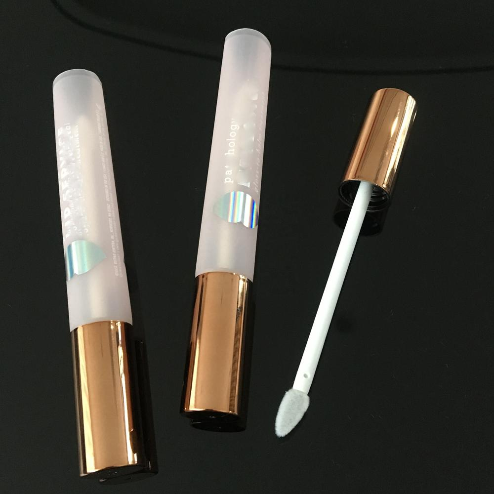 D16 Customize Empty Lip Gloss Soft PE Tube Cosmetic Packaging lipgloss Tube with wand