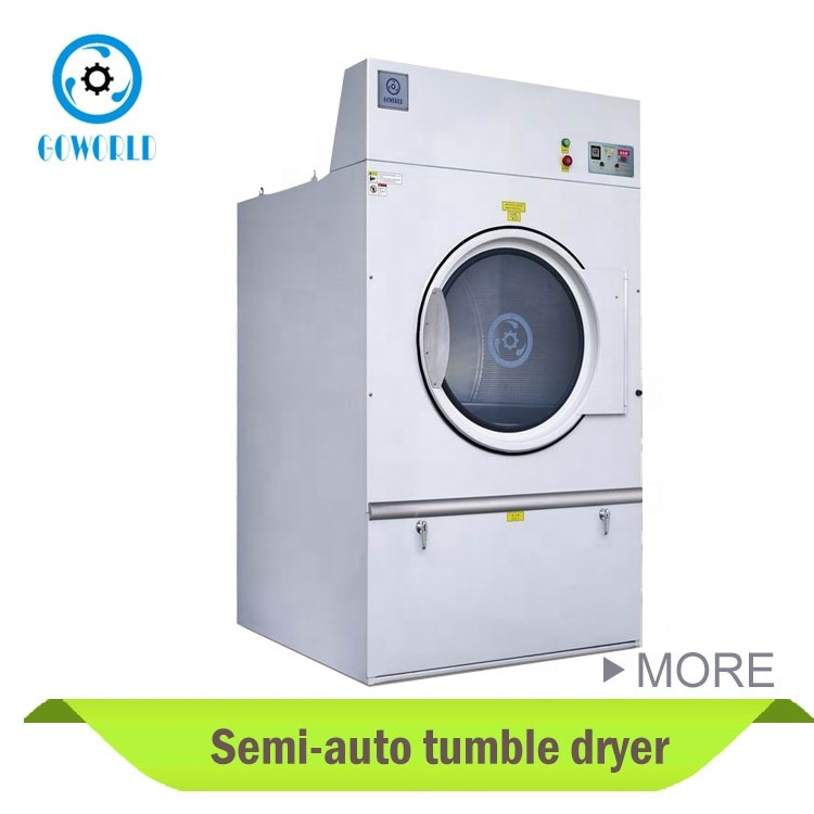 semi-automatic industrial tumble dryer