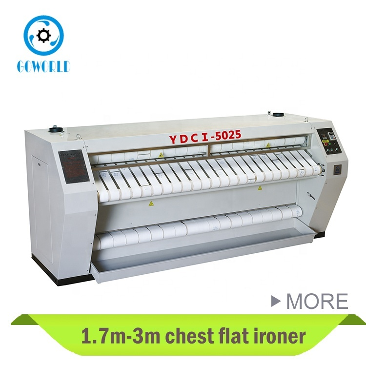 Chest Heated hotel and hospital type flatwork ironer