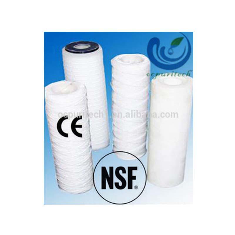 Micro wound filter cartridge PP yarn / Cotton / Fiberglass string water filters