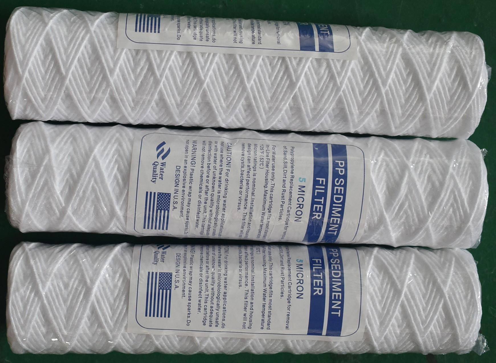 High Quality pp string wound water cartridge filters
