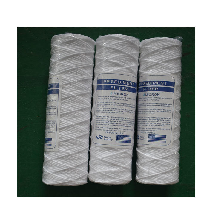 10inch PP string wound sediment cartridge with 10 micron water filter element