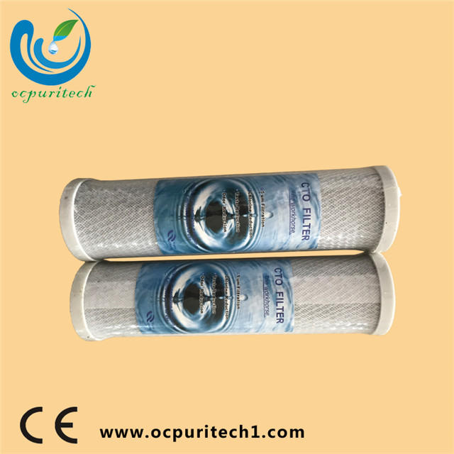 10 / 20 inch CTO activated carbon block water filter cartridge/cto carbon block filter