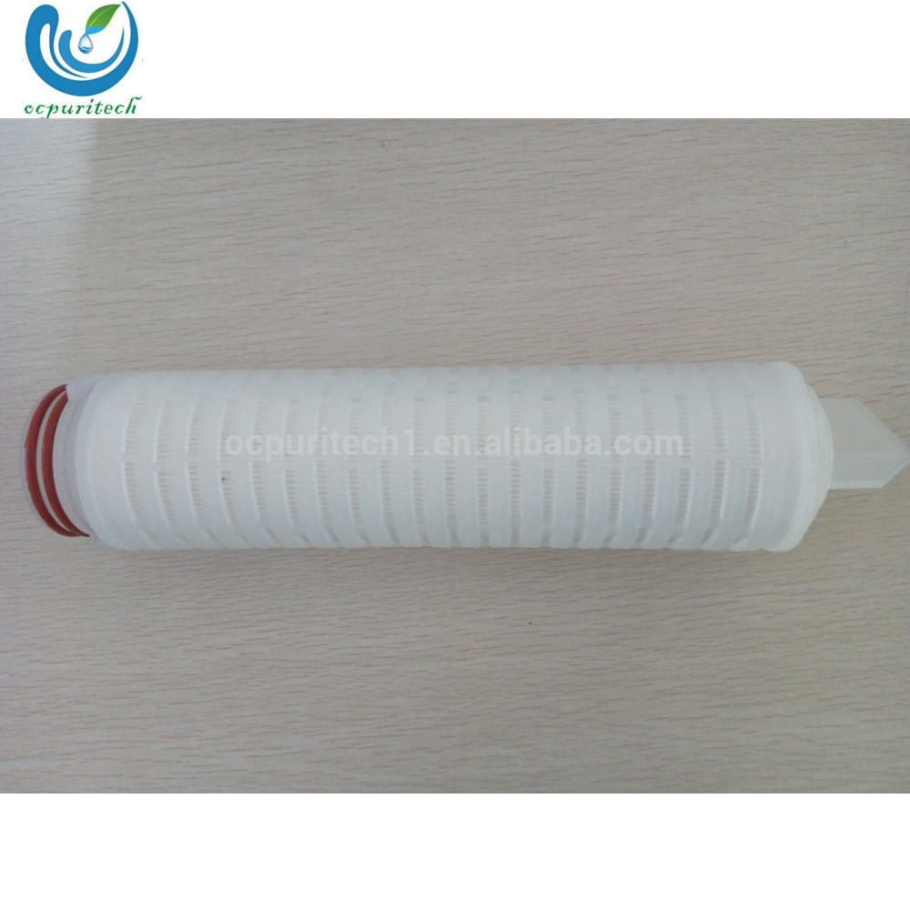 Pleated water filter cartridge for water treatment