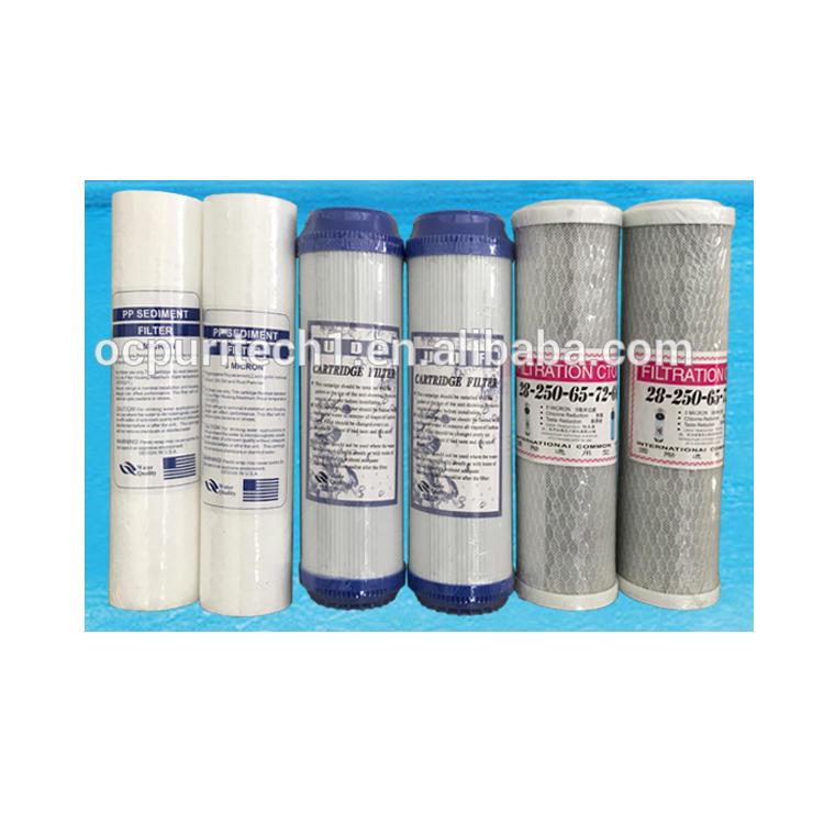 Inline Sediment Pp/cto/Gac Water Filter Cartridge