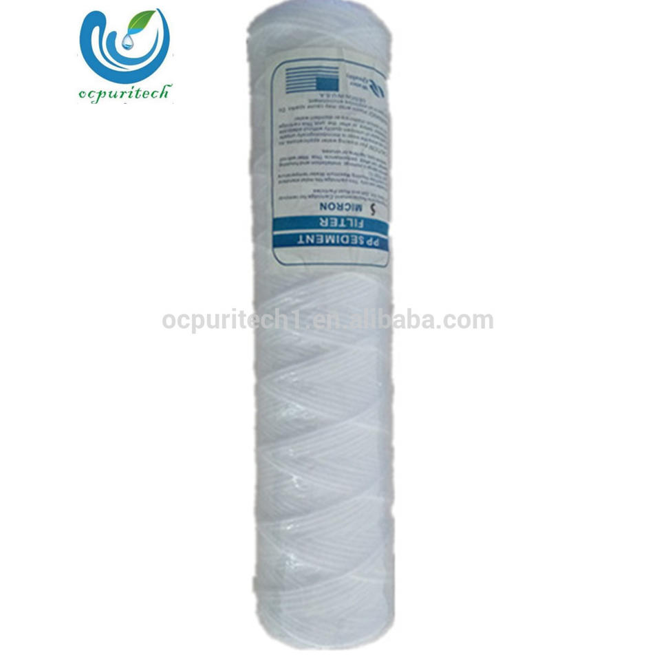 10inch Factory price cotton domestic string wound filter cartridge for water treatment equipment