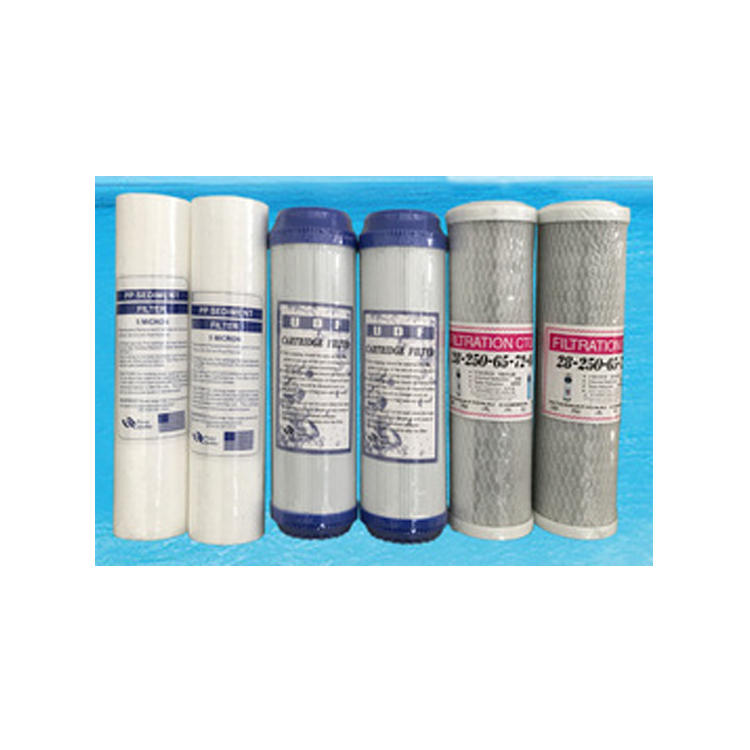 one complete set water filter cartridge including Pp+cto+UDFfilter cartridge