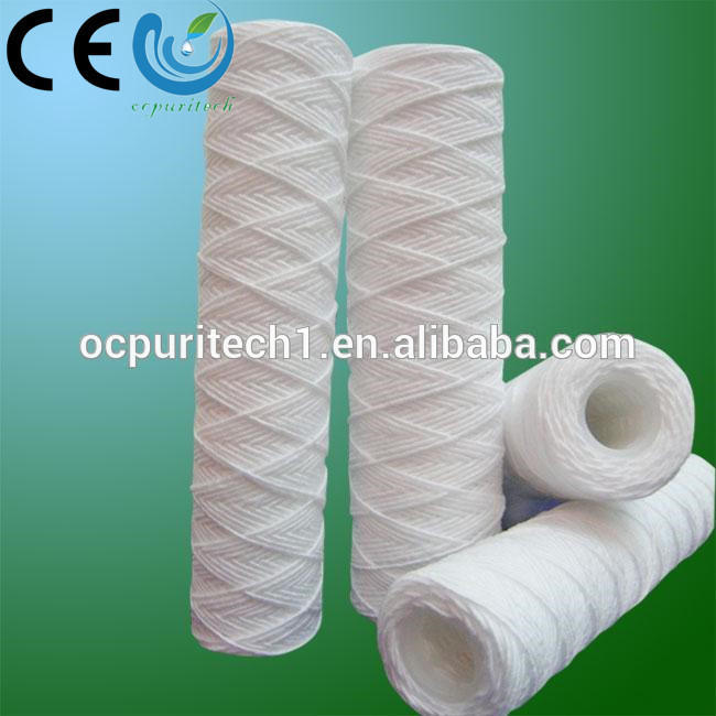Top 1,5,10,20micron pp string wound filter cartridge for industrial filter