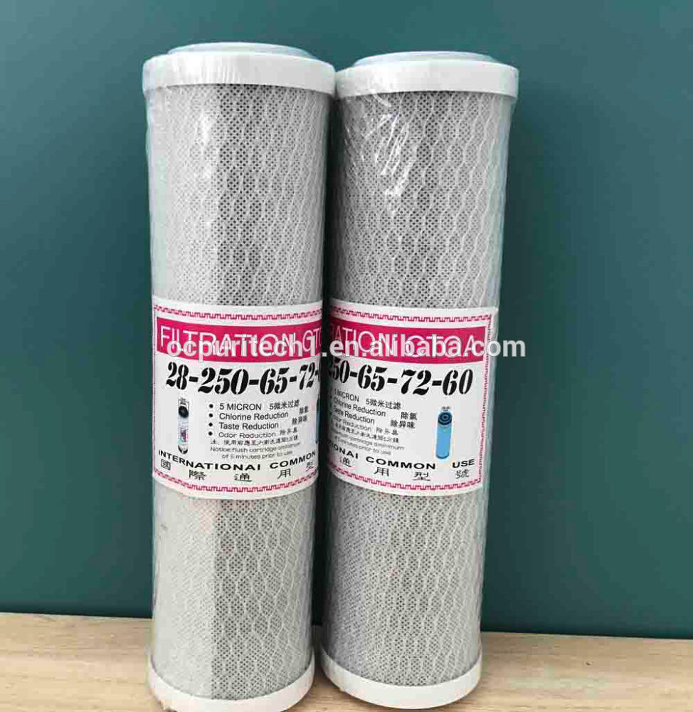Activated Carbon Pure Water Filter Cartridge CTO