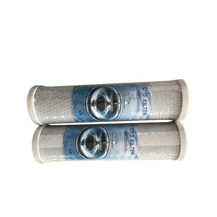 high quality cheap 10 inch activated carbon CTO water filter cartridge