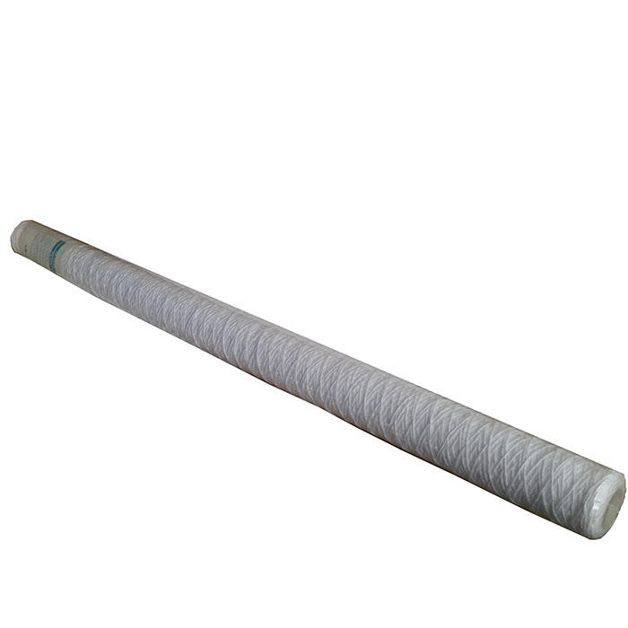 40 inch high quality 5 micron pp yarn string wound element nsf water filter cartridge for drinking