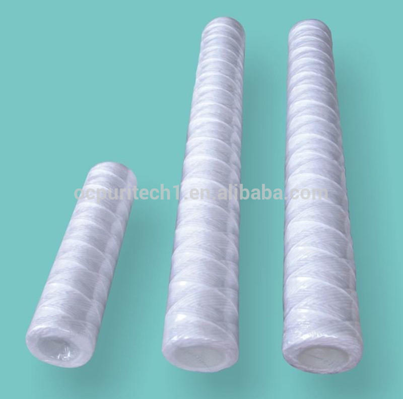wholesale PP core PP yarn /cotton string spiral wound water filter cartridge