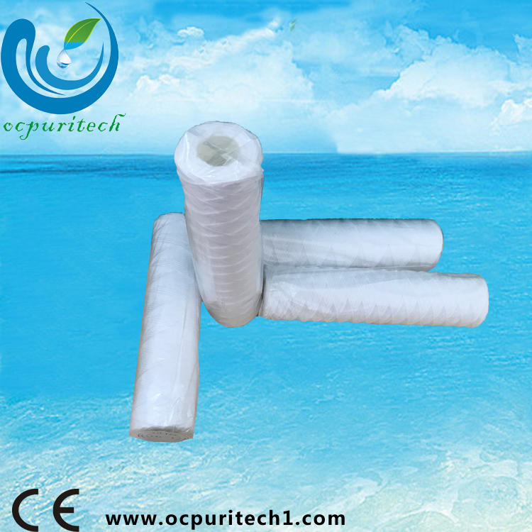 mineral cotton string wound water filter cartridge