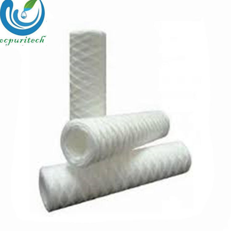 High Quality40 inch 5 micron spun pp yarn poly wound water filter cartridge