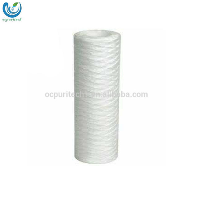 40 inch 5 micron string wound filter cartridge for water treatment