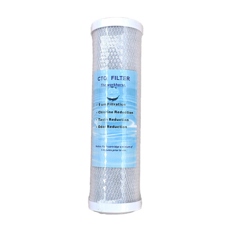 20 inch filter CTO filter cartridge RO system activated carbon block