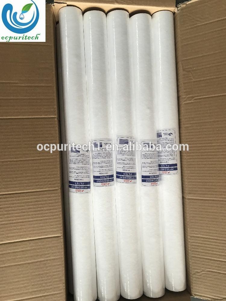 hot sale 5 micron melt blown cotton pp cartridge sediment filter