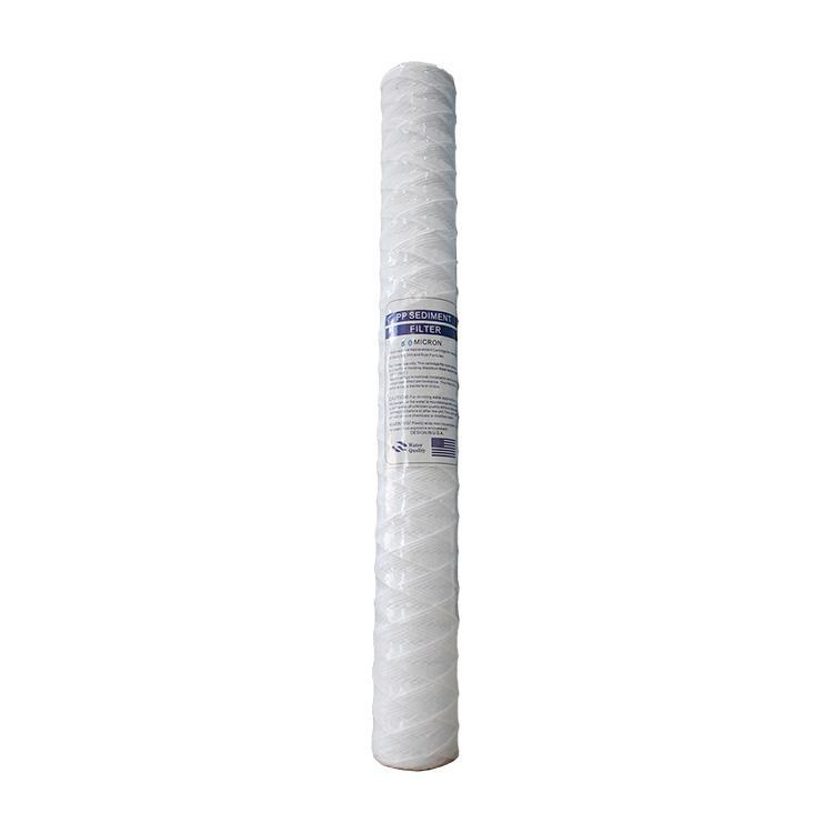 20inch PP water treatment spun melt blown yarn winding water filter cartridge