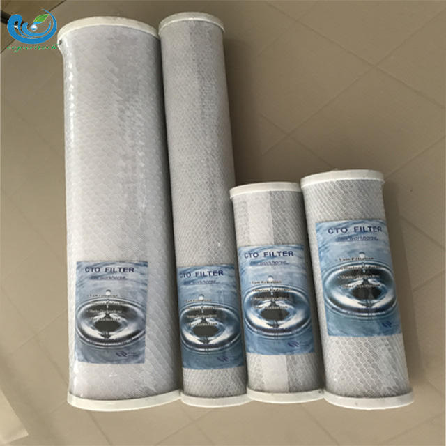 10 inch cto filter cartridge full activated water filter element cto carbon