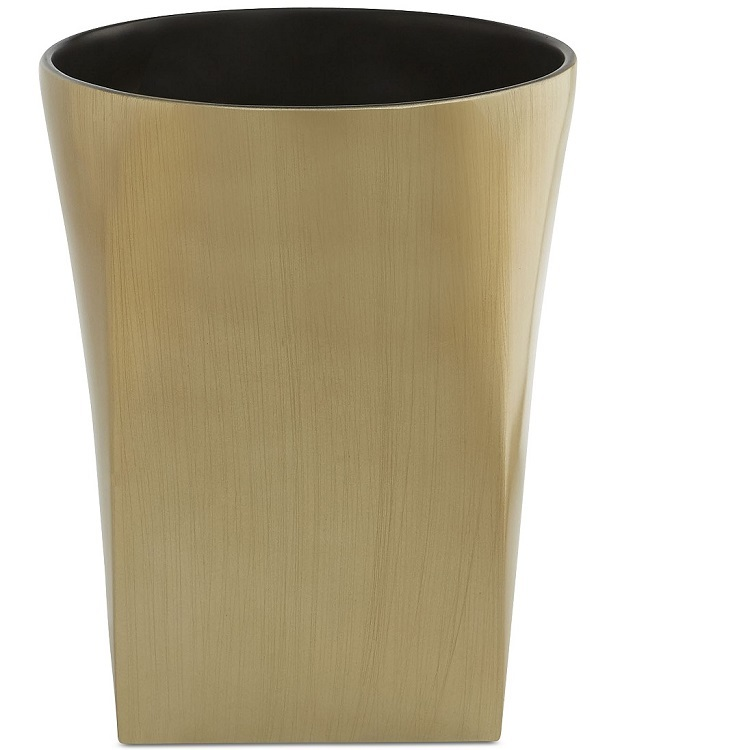 Hotsell Elegant Custom Decorative Poly Resin Bathroom Waste Bins