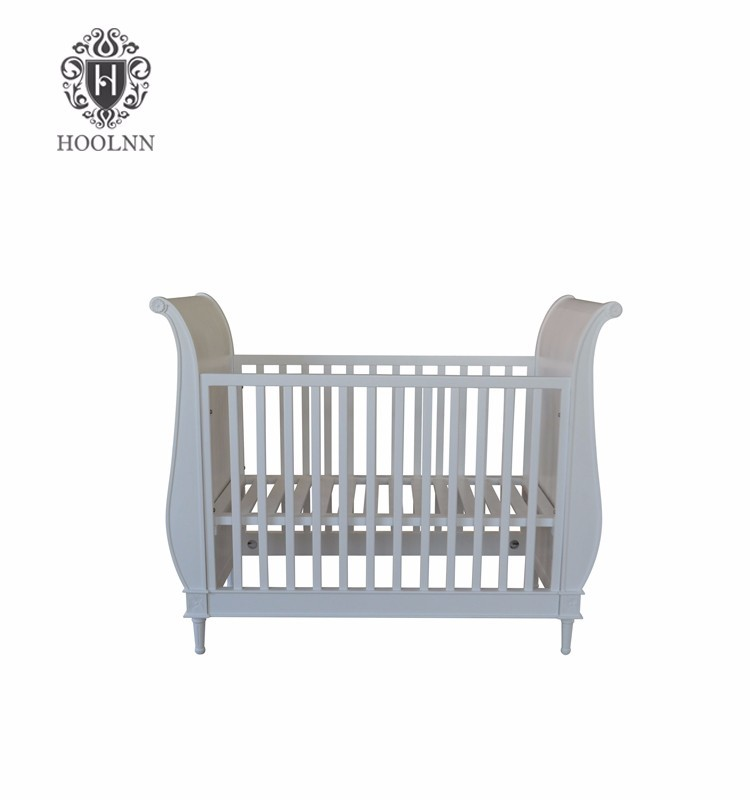 European Provincial Style Wooden Cot Baby Bed