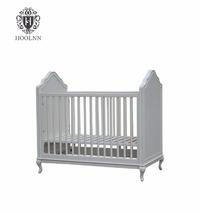 Antique French Style Baby Bed Wood